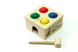 Развивающая игра Деревянная стучалка с шариками