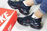 Женские кроссовки Nike Air Max Tn, темно-синие с красным / кроссовки женские Найк Аир Макс, сетка, легкие