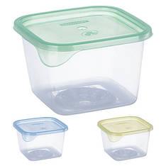Контейнер пластиковый для пищевых продуктов 450мл квадратный PT-71655