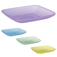 Тарелка квадратная пластиковая 19*19см PT-83306