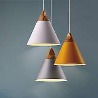 E27 современные деревянные подвесные потолки подвесной светильник люстра кухонный светильник