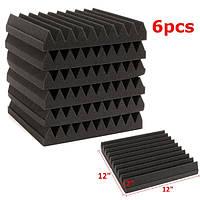 6pcs 30x30x5cm шумоизоляция акустическая пена клина плитки стеновых панелей 1TopShop