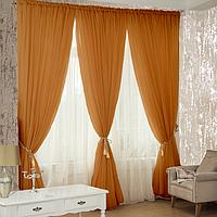 Стильные готовые  шторы из шифона