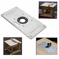 235мм х 120 мм х 8 мм алюминиевая табличная пластина вставки стола роутера для деревообрабатывающих скамейк
