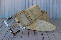 Ремень женский кожаный бежевый Louis Vuitton