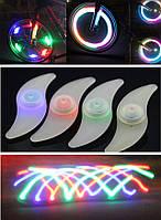 """Силиконовая """"S""""-образная одноцветная диодная мигалка / моргалка на колесо / спицу (5 РАСЦВЕТОК), фото 1"""