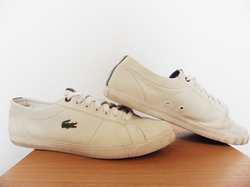 Кроссовки кеды Lacoste Marcel CSU 100% Оригинал р-р 42 (27см)  (б/у,сток) мужские белые кожаные