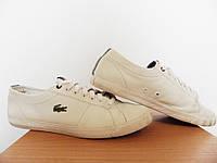 Кроссовки кеды Lacoste Marcel CSU 100% Оригинал р-р 42 (27см)  (б/у,сток) мужские белые кожаные, фото 1