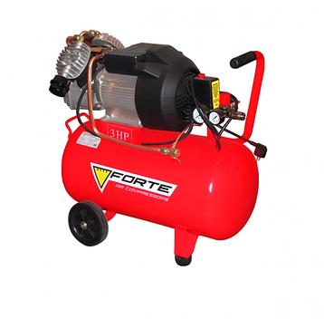 Компрессор 50 л 2.2 кВт 2 цилиндра Forte VFL-50, фото 2