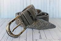 Ремень женский джинсовый серый Louis Vuitton 35мм