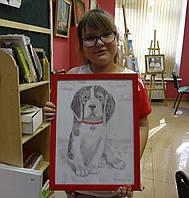 """Картина """"Собака в крвсном ошейнике"""""""