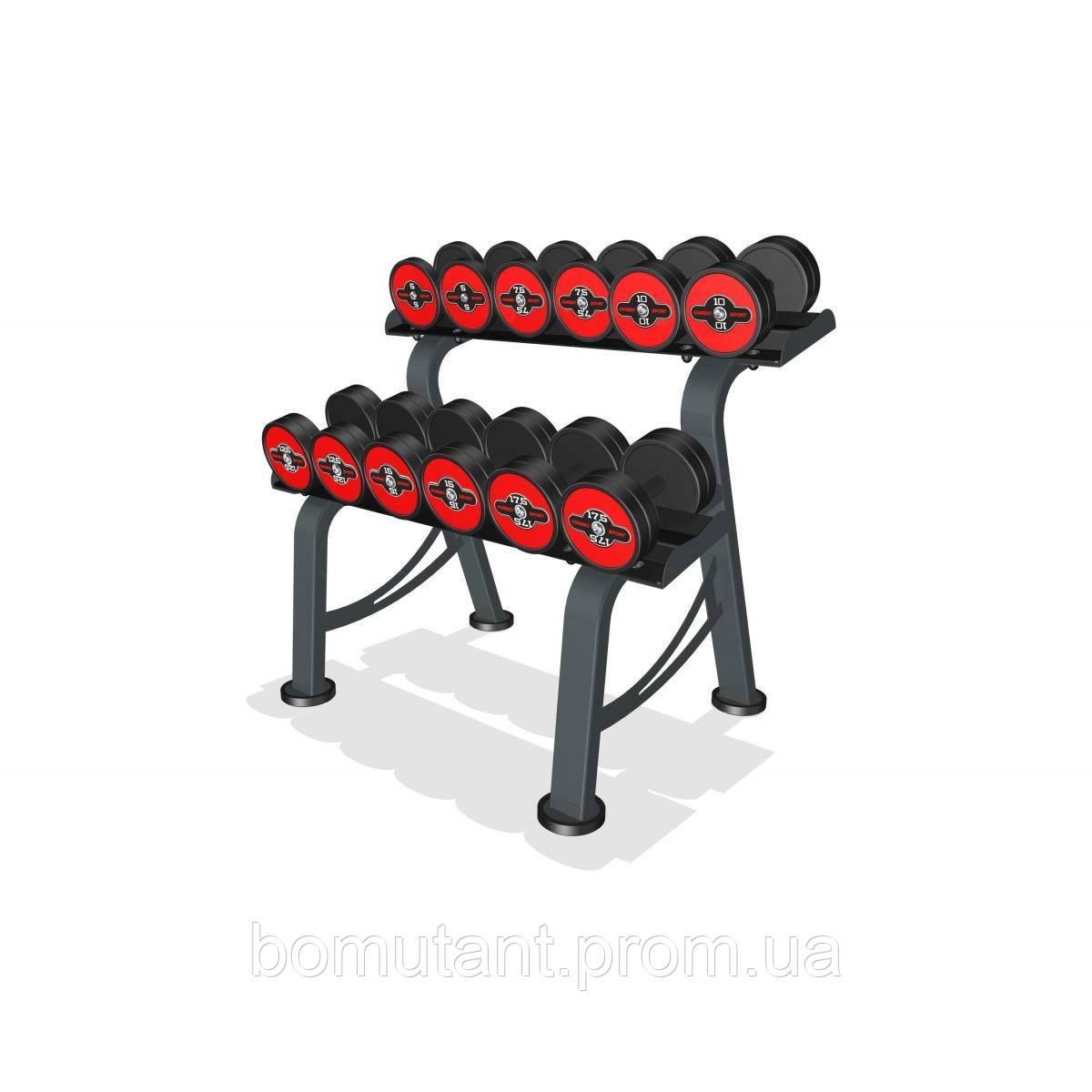 Гантельный ряд Marbo-Sport 5-17,5 кг.