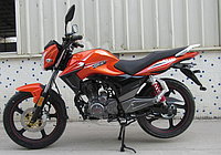 Мотоцикл HORNETGT-150 (150 см.куб., кирпичный/черный/мокрый асфальт)