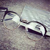 Имиджевые очки кошка круглые Чёрный