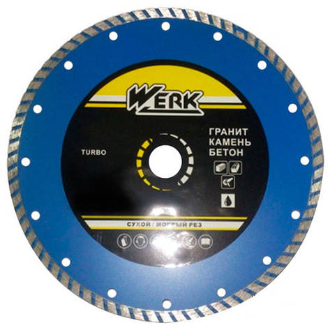 Алмазный диск Werk Turbo  WE110113 (180x7x22.225 мм), фото 2