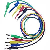 DANIU 1PCE 4 мм Banana Plug для Медь Двойной тест Крюк Кабельный зажим для кабеля Провод 100 см
