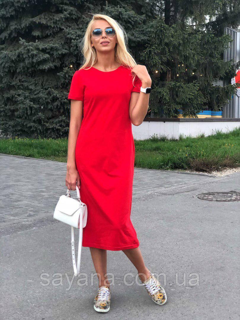 45efbebdf2f5fd Купить Женское платье миди из хлопка, в расцветках. ТС-10-0618 ...