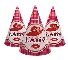 """Колпачки праздничные """"Little Lady"""". Размер: 16см."""