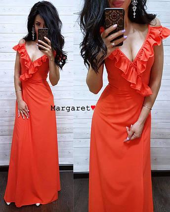 Длинное вечернее платье с разрезом, размеры S M, фото 2
