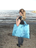 """Пляжная сумка-коврик """"Трансформер"""" на молнии (синяя)"""