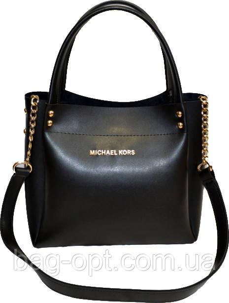 Женская черная сумка MK (24*27*12)
