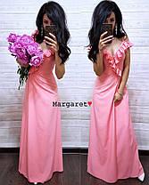 Длинное вечернее платье с разрезом, размеры S M, фото 3