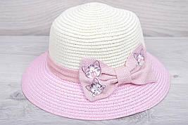 """Детская шляпа """"Котейки"""" Размер 52-54 см. Светло-розовая. Оптом."""