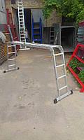 Лестница трансформер 4х3, алюминиевая, фото 5