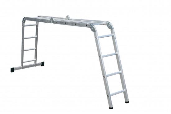 Лестница трансформер, шарнирная,4х4 Forte АО52-404