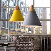 Диаметр 25см современный деревянный кулон потолок подвесной светильник люстра кухонный светильник