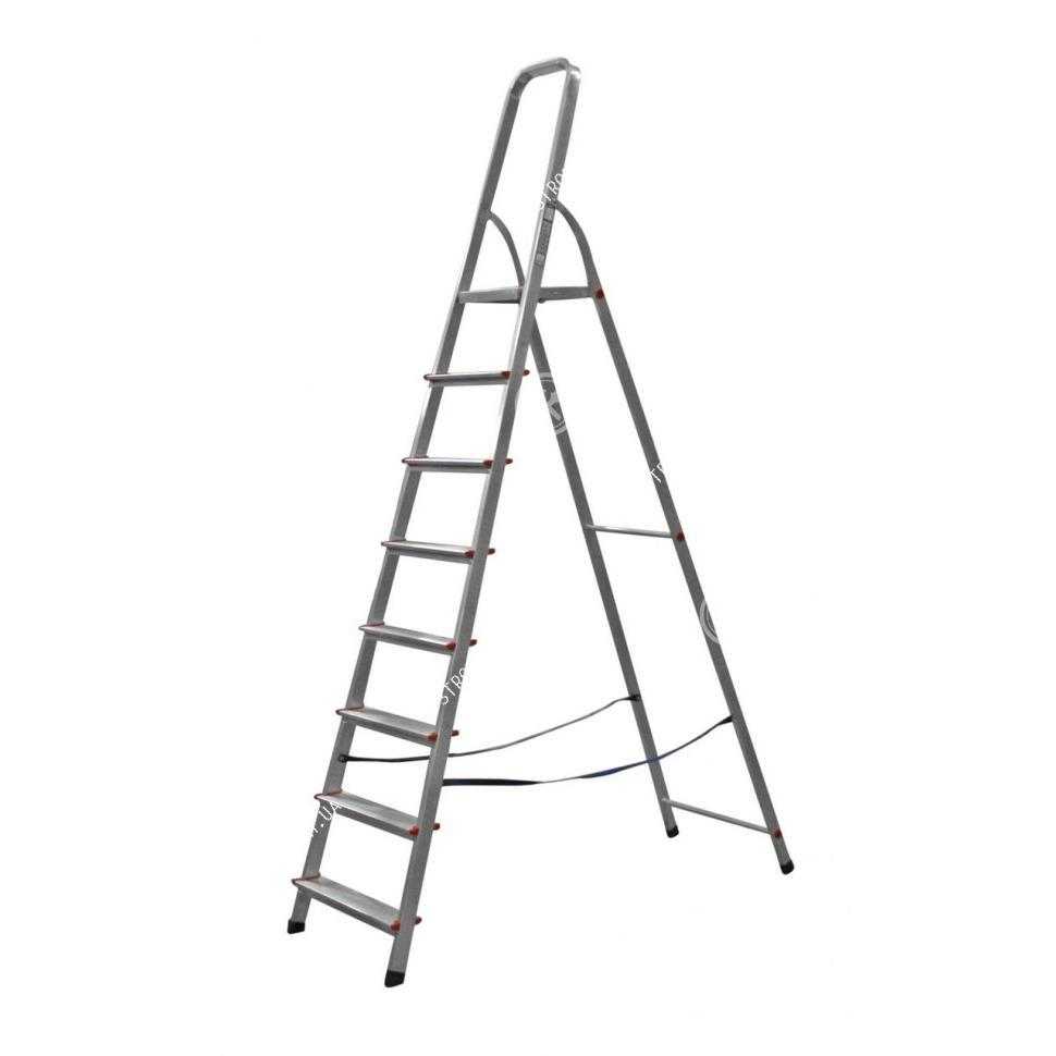 Стремянка металлическая 8 ступеней (серая) Werk 218