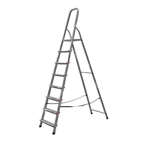 Стремянка металлическая 8 ступеней (серая) Werk 218, фото 2