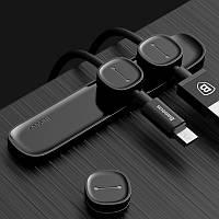 Baseus Магнитные Зажимы для кабеля lержатель кабеля yастольный кронштейн для iPhone Samsung HTC
