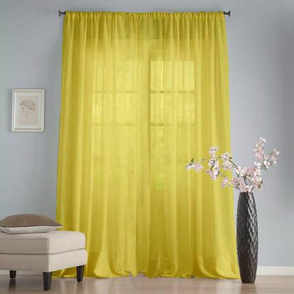 """Тюль Вуаль Желтая 400х270см """"Декор Текстиль""""  (Арт.25025), фото 2"""