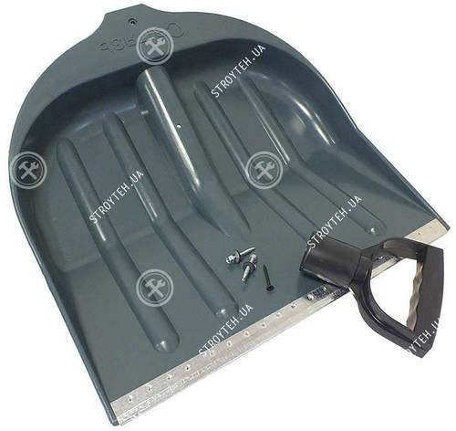 Світязь Лопата снігоприбиральна з металевим кантом і ручкою в комплекті, фото 2
