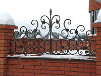 Забор кованый навершие