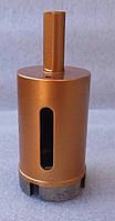 Алмазное сверло кольцевое по граниту, керамограниту 35x54x2,8(4S2,6x8x22)х25x10 под дрель, зажимной патрон