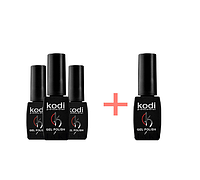 Набор гель-лаков Kodi 3+1 в подарок