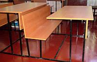 Парта двухместная с лавкой Школьная аудиторная, фото 1