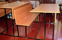 Парта двухместная с лавкой Школьная аудиторная