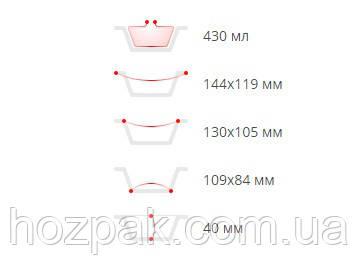 Контейнер из пищевой  алюминиевой  фольги 100шт (SP24L )(144*119*40) (1 пач)