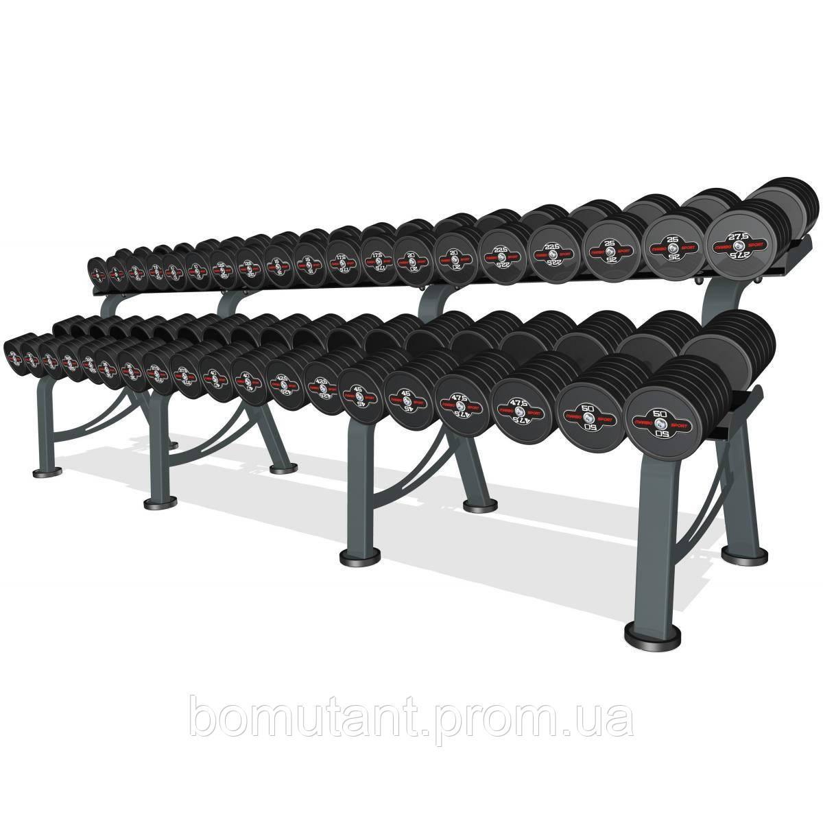 Гантельный ряд Marbo-Sport 5-50 кг.