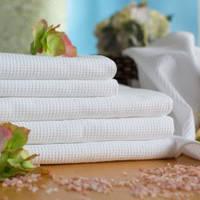 Полотенца вафельные белые 75*35