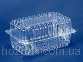 Контейнер пластиковий з відкидною кришкою ПС-120 (V1550мл\230*130*78) (50 шт)