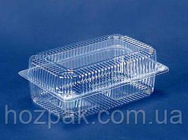 Контейнер пластиковий з відкидною кришкою ПС-122 (V1700мл\230*130*87) (50 шт)