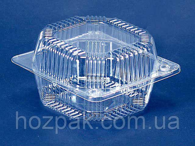 Контейнер пластиковий з відкидною кришкою ПС-10 (V800мл\ 135*130*74) (50 шт)