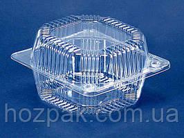 Контейнер пластиковый с откидной крышкой  ПС-10 (V800мл\ 135*130*74) (50 шт)