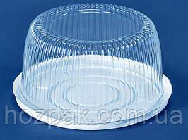Упаковка з полістиролу для торта ПС-24 (V3500мл)Ф260*116 (200 шт)