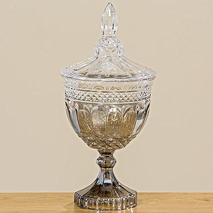 Пиала Айден серебряное стекло h25см