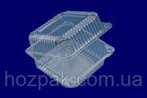 Контейнер пластиковый с откидной крышкой  SL25-1 (V1350мл\139*139*47+32) (50 шт)